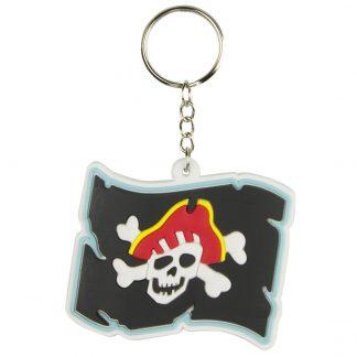 Sleutelhanger rubber piratenvlag